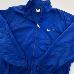 Vintage 90s Nike Windbreaker Very Dark Blue Sz XL